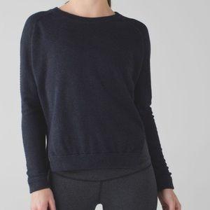 Lululemon Bhakti Life Sweater Naval Blue Size 4